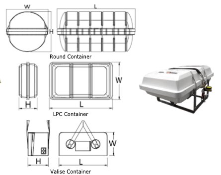 4 - 150 person inflatable bouyant apparatus (IBA)